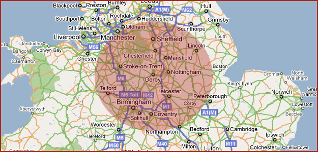 We cover a 50 mile radius of Cavendish